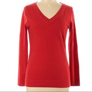 Banana Republic Wool Red Pullover Sweater Medium